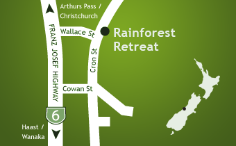 Rainforest Retreat, 46 Cron Street, Franz Josef, West Coast #1307